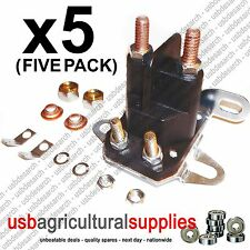 5x STARTER Universale Solenoide-SIMPLICITY SNAPPER MTD TORO Hayter CONSEGNA VELOCE
