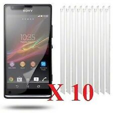 10 X Clear Screen Protectors Cover Film for Sony Xperia SP & Free Cloth