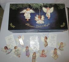 Bradford Exchange Heaven's Little Angels 9 pc Ornament + storage box COA MINT