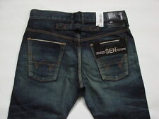 JEANS EDWIN SEN BLACK SKINNY  (japan selvage -dark-used) W32 L33 ( P28595A1136 )