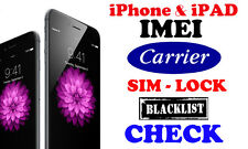 Check iPhone iPAD IMEI checker Carrier Blacklist Sim lock status Find my iPhone