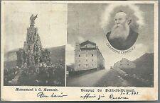 1903ca PICCOLO SAN BERNARDO Abate Chanoux cartolina Valle d'Aosta viaggiata