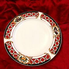 China Christmas Gibson Windsor Holiday Dinner plates Lot of 2