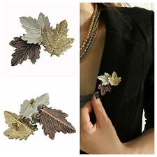Plated Party Maple Leaf Brooch Pins Retro Costume Accessories Clothes Ornament