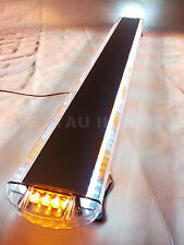 "55"" 104W LED WORK LIGHT BAR BEACON EMERGENCY SAFETY WARNING STROBE AMBER&WHITE"
