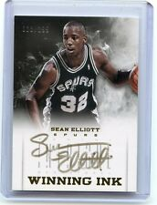 "2012-13 INTRIGUE #27 SEAN ELLIOTT AUTOGRAPH ""WINNING INK"" AUTO #28/199, SPURS"