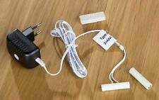 Batterie Adapter Netzanschluss für 2 Micro Batterien AAA  Stecker + 3mtr Leitung