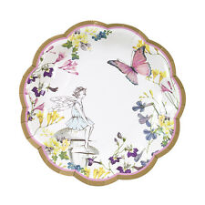 12 Vintage Style Pretty Fairy Plates Napkin Afternoon Tea Small Paper Plates