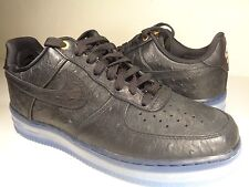 Nike Air Force 1 Cmft Lux Low Black Ostrich Leather SZ 7.5 Womens 9 (805300-001)