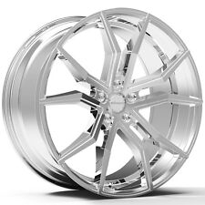 4-NEW ROSSO 702 ICON 20x8.5 5x108 +38mm Chrome Wheels Rims