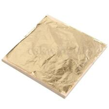 100Pcs Sheets Gold Silver Copper Leaf Foil Paper 14x14cm For Gilding Craft Decor