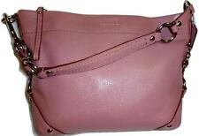 COACH CARLY ~ Stunning Mauve Purple Leather Chain Link Shoulder Hobo Bag #15251