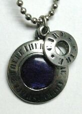 CARE pendant - shield and ring (blue)