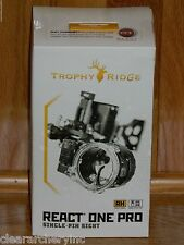 NEW Trophy Ridge React One PRO Bow Sight- Black -Right Hand .010 Pin- $260 MSRP