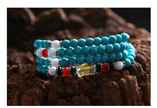 "Tibet Buddhist 108 turquoise Blue 6mm prayer beads ""Om mani padme hum"" Bracelet"