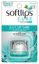 Softlips Cube 5-in-1 Lip Care Balm SPF 15, Fresh Mint - NEW/SEALED
