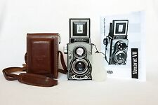 SERVICED & TESTED Flexaret VII CASE Czech Meopta Camera Rolleiflex BRIGHT SCREEN