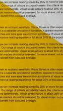 A4 101 Yellow Coloured Sheet Overlay Dyslexia Visual Transparent Stress reading