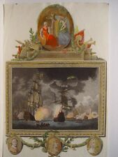 «DF ... of the dutch fleet 3 jun 1665». Dibujó Dominique Serres (1722-1793) Grab
