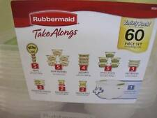 RUBBERMAID 1P38 TAKE ALONGS 60 PC VARIETY PACK CONTAINERS LIDS & 30 QT STORAGE