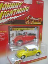 `75 VW Super Beetle Cabrio Yellow *RR* Johnny Lightning Classic Gold 1:64 *SALE*