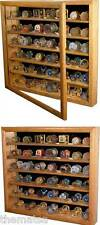 DELUXE CHALLENGE COIN COLLECTOR WALL HANGING SOLID OAK WOOD DISPLAY CASE
