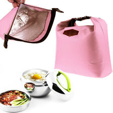 Women Kid Insulated Thermal Lunch Box Bag Waterproof Bento Cooler Tote Picnic