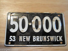 1953 NEW BRUNSWICK  Wheaties Miniature Pedal Car Bike Bicycle License Plate