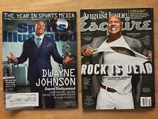 "DWAYNE ""THE ROCK"" JOHNSON On Cover MAGAZINE LOT SPORTS ILLUSTRATED & ESQUIRE WWE"