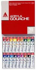 NEW!! Holbein Acryla Gouache 18 Colors Set 20ml tube #6 New Japanese Paint