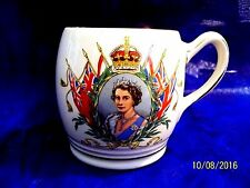 1953 CORONATION Royal Winton Queen Elizabeth II SMALL Porcelain  Mug