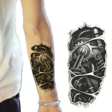 Temporary 3D Large Waterproof Tattoos Stickers Mechanical Arm Fake Scar Covers