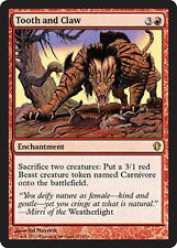 Tooth and Claw X4 (Commander 2013) MTG (NM) *CCGHouse* Magic