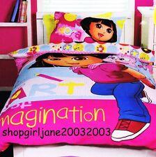 Dora the Explorer ✎ Art of Imagination ✏Double/Full Bed Quilt Doona Duvet Cover