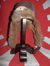 WW2 Japanese Pilot winter helmet for Navy flying corps officers.Very Good