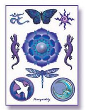 TRANQUILITY Celestial Temporary Tattoos Set Wiccan Pagan T11