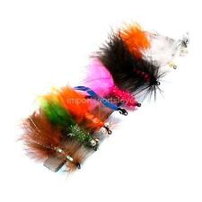 1 Box of 8pcs Assortment Fly Fishing Rainbow Trout Flies Stainless Hook