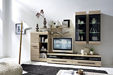 MODERN Living Room Furniture FEVER 2 Set LED wall units TV cabinets Sonoma Oak