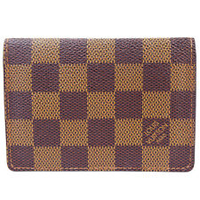 Auth Louis Vuitton Vertical Bifold Pass Card Case Monogram Brown N60533 08S479