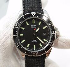 "TIMEX,1980's,Quartz.""Dive Date/Just Glow Markers Black Dial"",MEN'S WATCH,1818"
