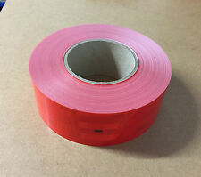 25m x55mm RED Conspicuity Tape ECE104 Diamond Reflective 3M Truck Lorry