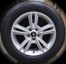 "NEW Ford Mustang 17"" Factory OEM Wheels Rims Michelin Tires 2005-15 TPMS Sensors"