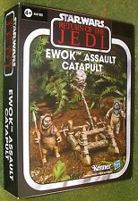 STAR WARS VINTAGE COLLECTION 2013 EWOK ASSAULT CATAPULT CHUBBRAY & STEMZEE EWOKS