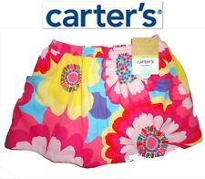 NWT 18 MONTHS BABY GIRL CARTER'S FLORAL 100% COTTON PINK SKIRT WITH PANITES NEW