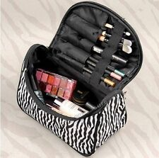 Travel Portable Zebra Cosmetic Bag Makeup Case Pouch Toiletry Wash Organizer
