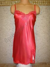 NWT Victoria's Secret S Babydoll Chemise Slip Red Cherry Satin Lace Very Sex