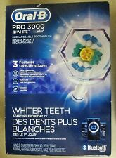 NEW Oral-B Pro 3000 3D White Smart Bluetooth Rechargeable Electric Toothbrush