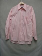 Z7174 Charles LeGolf mens pink white checkered long sleeve button up shirt.