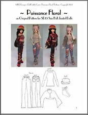 "Puissance Floral - Clothing Pattern for 23""-24"" Ball Jointed Doll BJD"