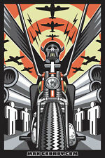 Horseman of The Apocalypse  Bike Sticker by Californian Atomic Artist Max Grundy